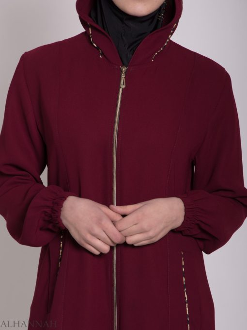 Wajihah Abaya - Moroccan Style Hooded ab672 (10)