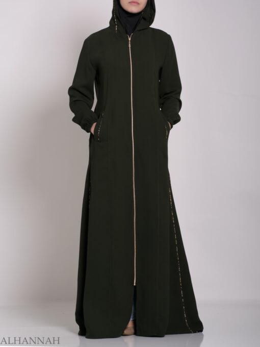 Wajihah Abaya - Moroccan Style Hooded ab672 (11)