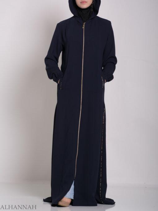 Wajihah Abaya - Moroccan Style Hooded ab672 (12)