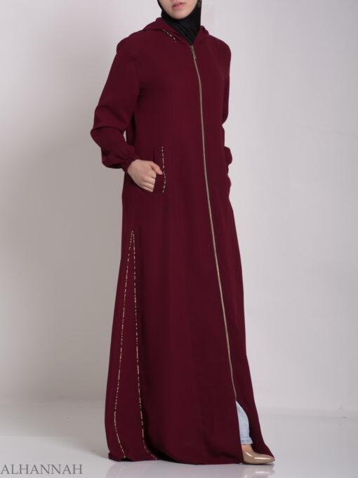 Wajihah Abaya - Moroccan Style Hooded ab672 (2)