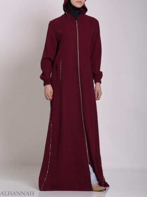 Wajihah Abaya - Moroccan Style Hooded ab672 (6)
