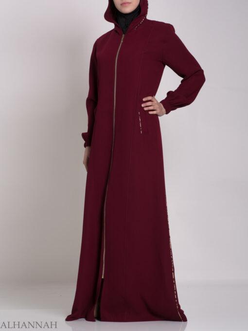 Wajihah Abaya - Moroccan Style Hooded ab672 (7)