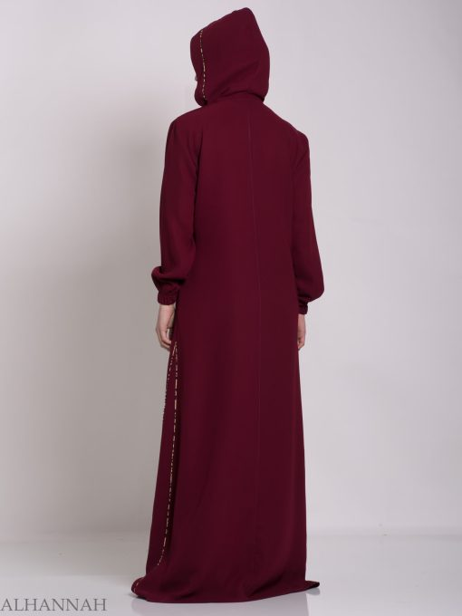 Wajihah Abaya - Moroccan Style Hooded ab672 (9)