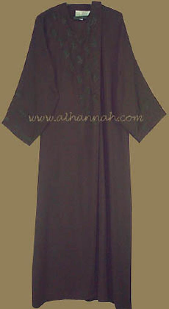 Khalije Style Abaya with Matching Shayla ab200