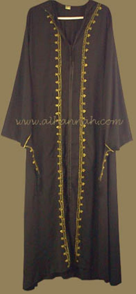 Plus Sized Morrocan Style Hooded Abaya with Matching Pants  ab204
