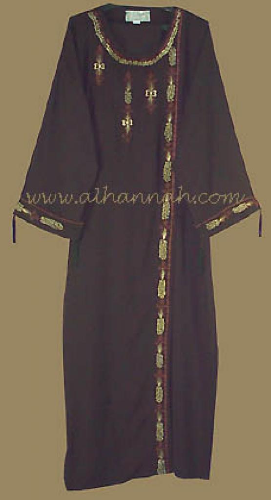 Khalije (Gulf) Style Abaya with Matching Shayla ab207