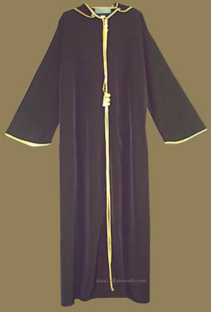 Moroccan Style Hooded Abaya ab209