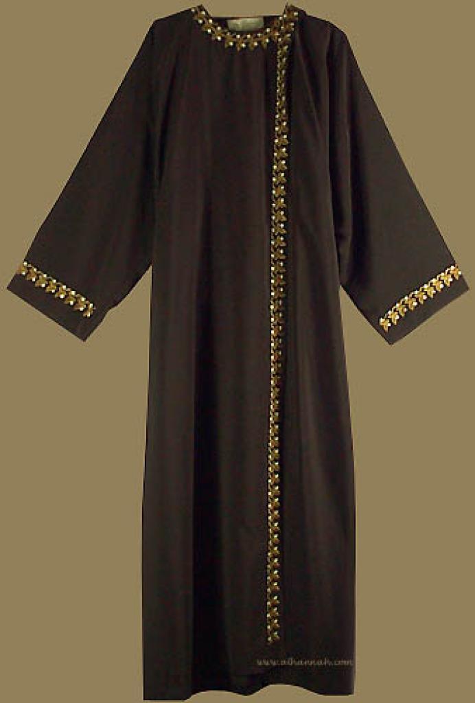 Khalije Style Abaya with Matching Shayla   ab211