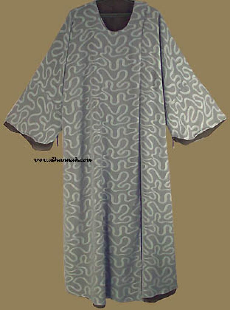 Plus Size Reversable Omani Style Abaya with matching shayla ab215