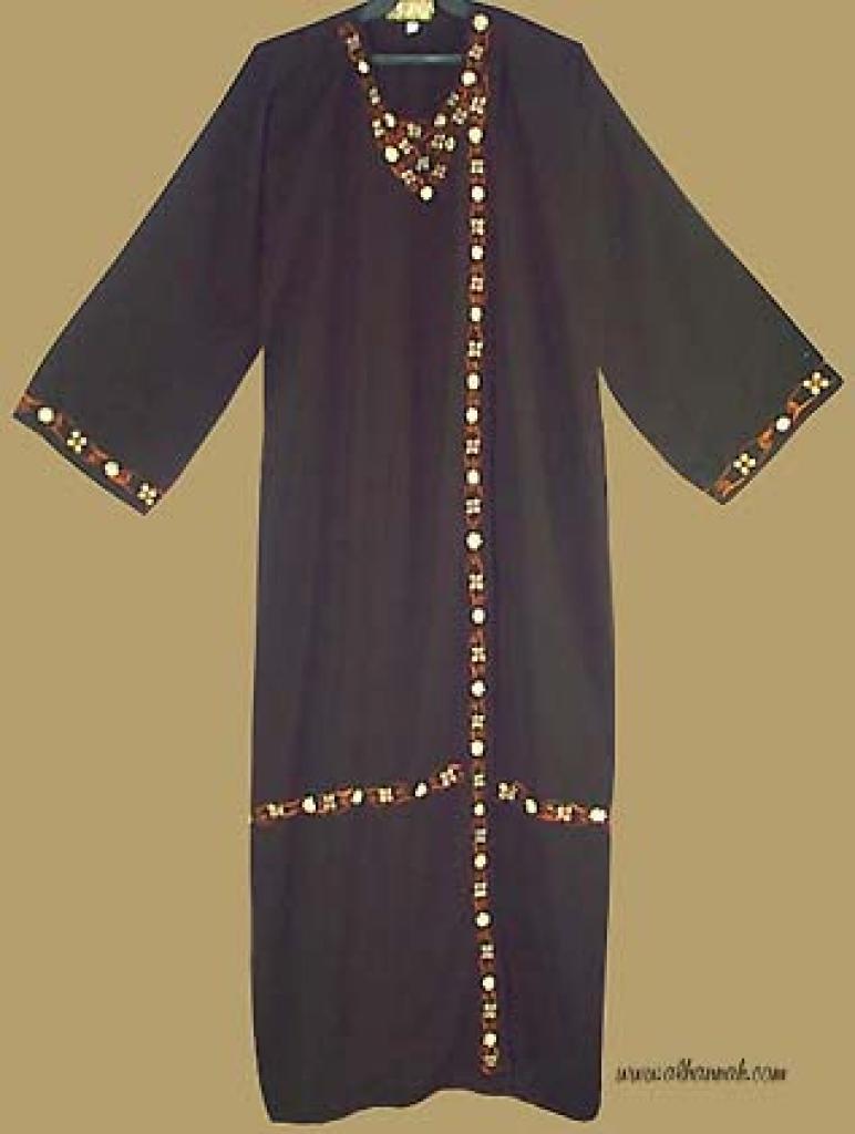 Embroidered Khalije Style Abaya    ab226