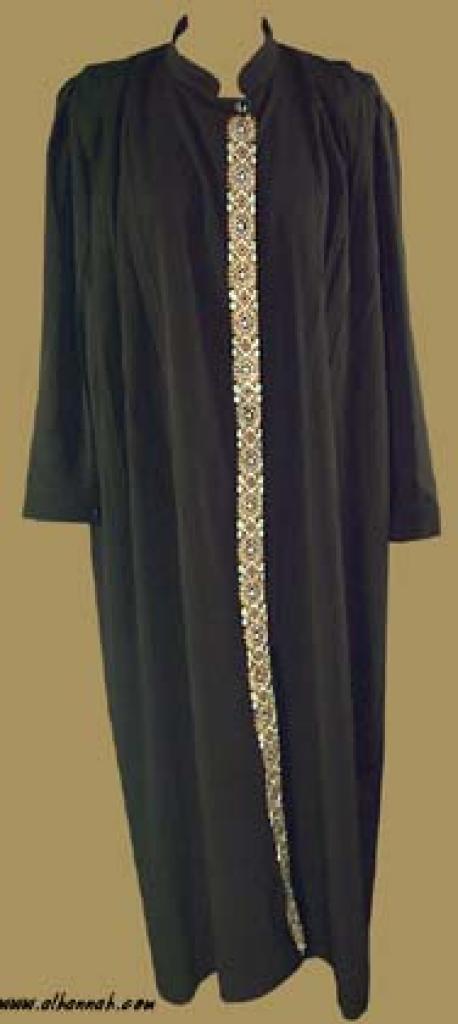 Plus Size Button Down Abaya ab230
