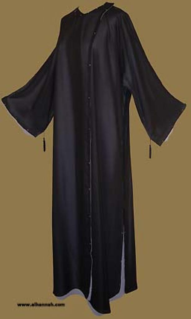 Double Layer Omani Style Abaya with Matching Shayla (Oblong Scarf.)  ab231