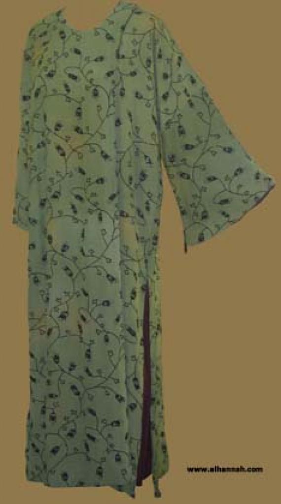 Velvet Floral Omani-Style Abaya ab236