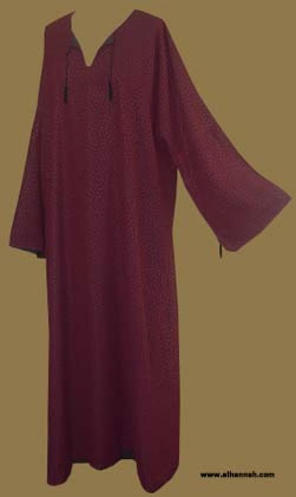 Solid Color Omani Style Abaya ab238