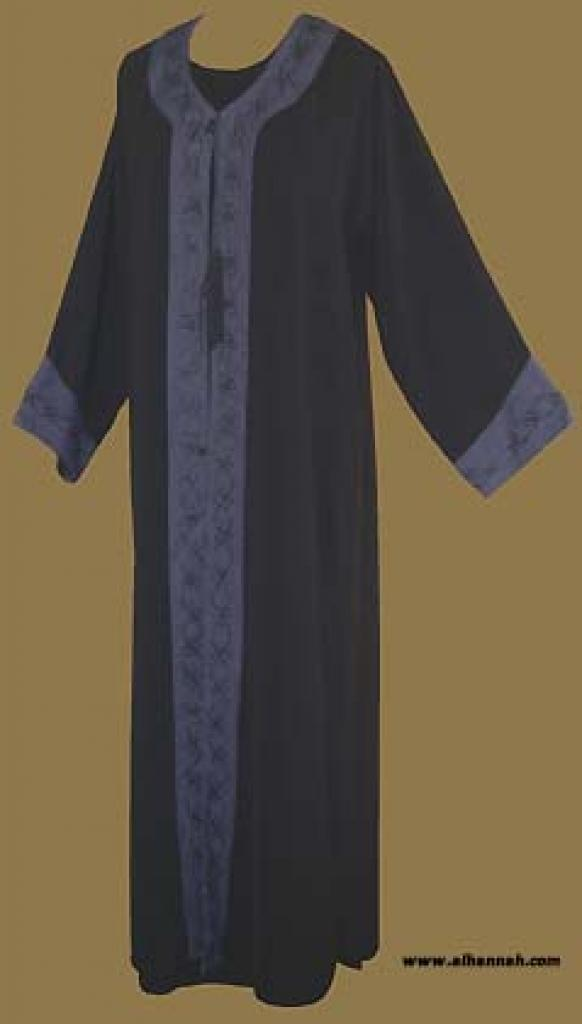 Embroidered Saudi Abaya With Crystal Accents  ab248