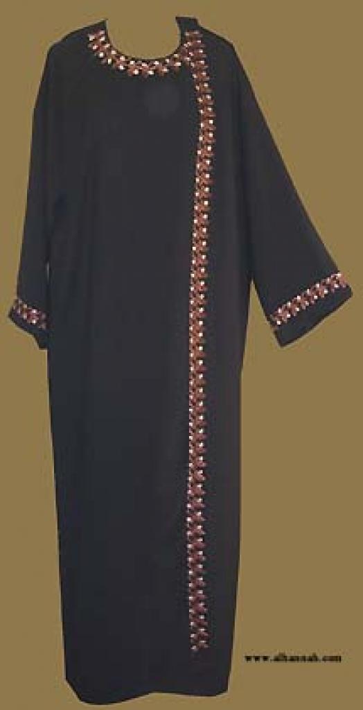 Classic Khalije (Gulf) Style Abaya  ab255