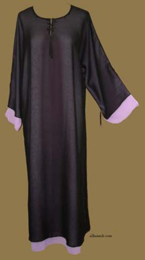 Double Layer pull-over Abaya with Matching Shayla (Oblong Scarf.)  ab258