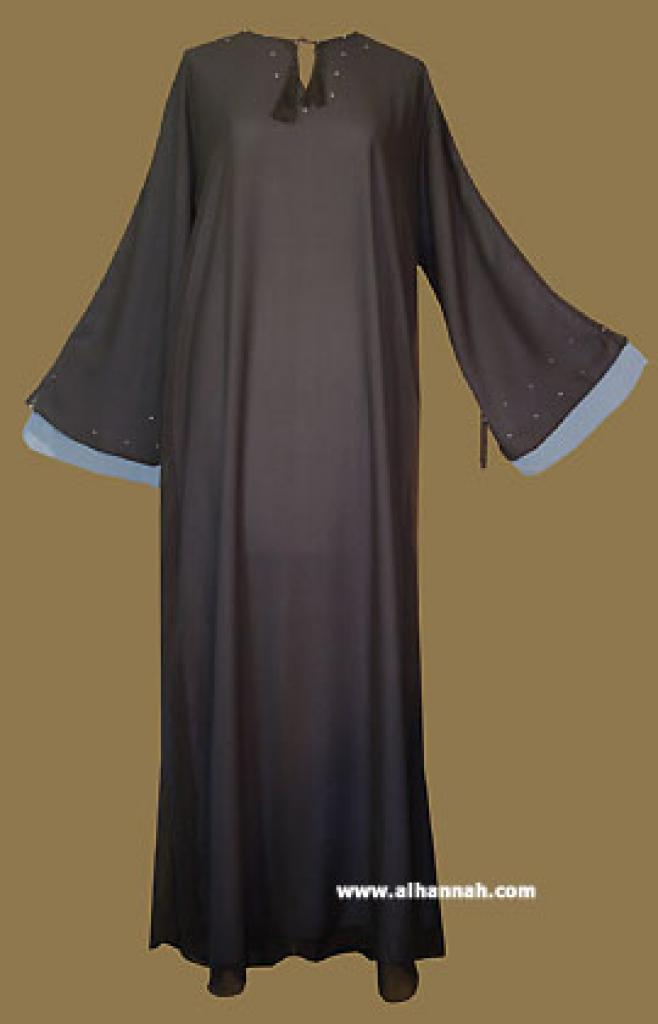 Saudi Style Double Layer  Pull Over Abaya ab264