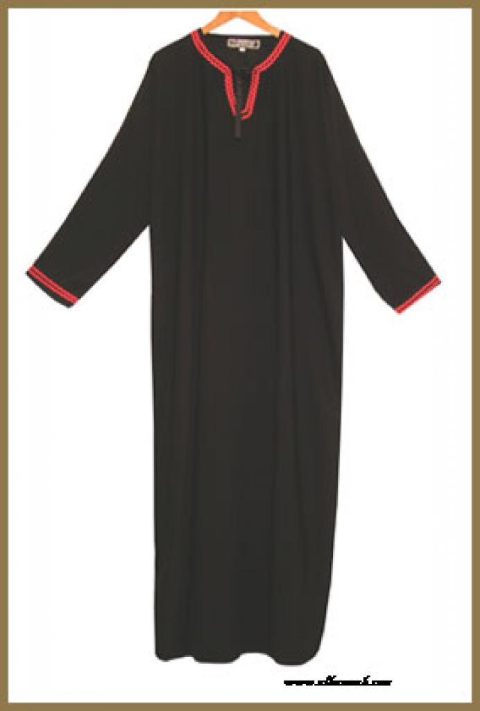 Saudi pull over abaya with crystal accents and  with matching shayla (oblong scarf.) ab266