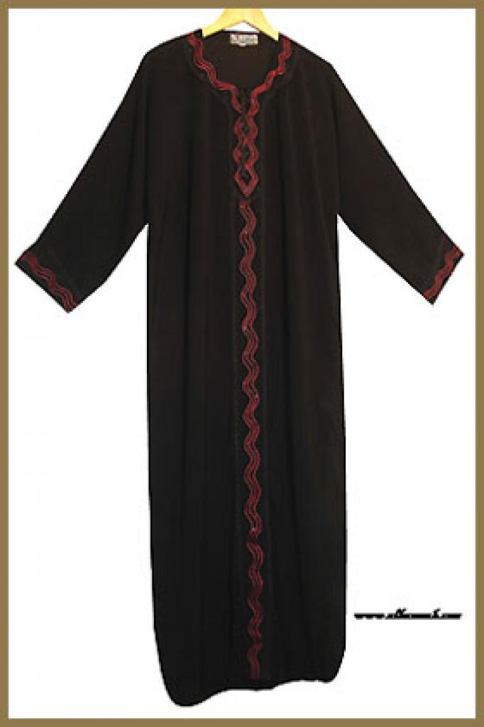 Traditional Saudi pull-over abaya ab267
