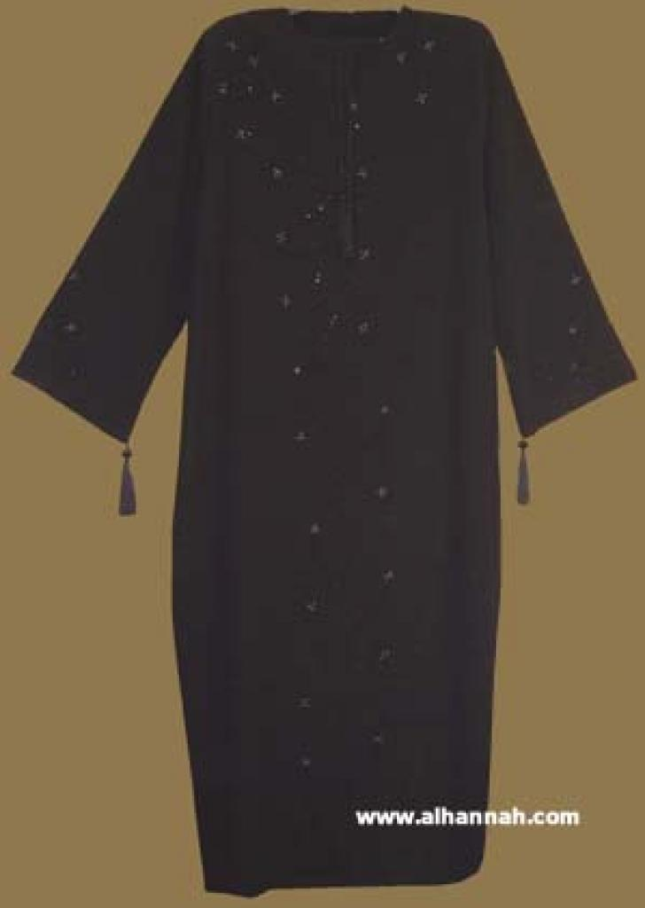 Traditional Arabian Pull Over Abaya and Matching Shayla (oblong scarf) ab270