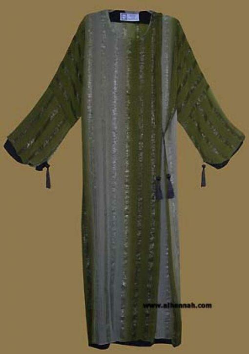 Festive Khalije (Gulf) Style Abaya ab273