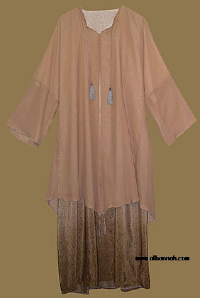 Traditional Pull over Abaya with shawl Style Over layer. ab275