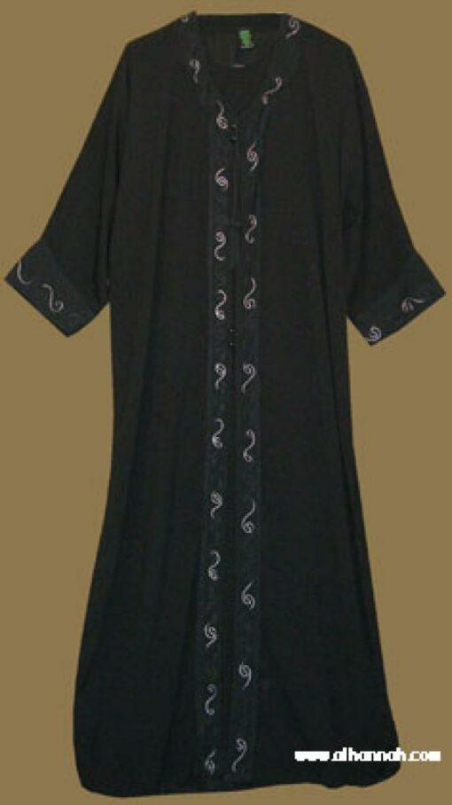 Khalije (Gulf) style abaya with matching shayla (oblong scarf.) ab276