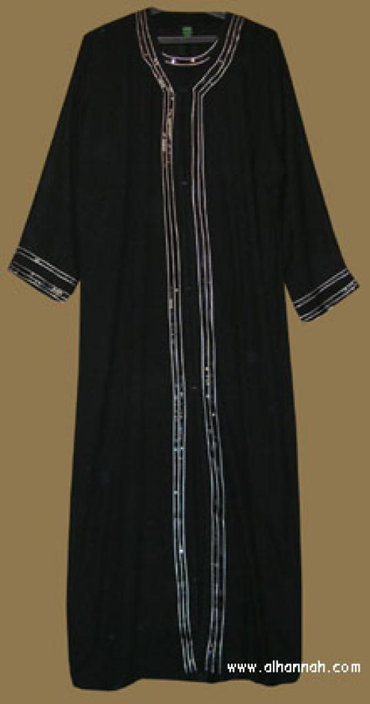 Khalije (Gulf) style abaya with matching shayla (oblong scarf.) ab277