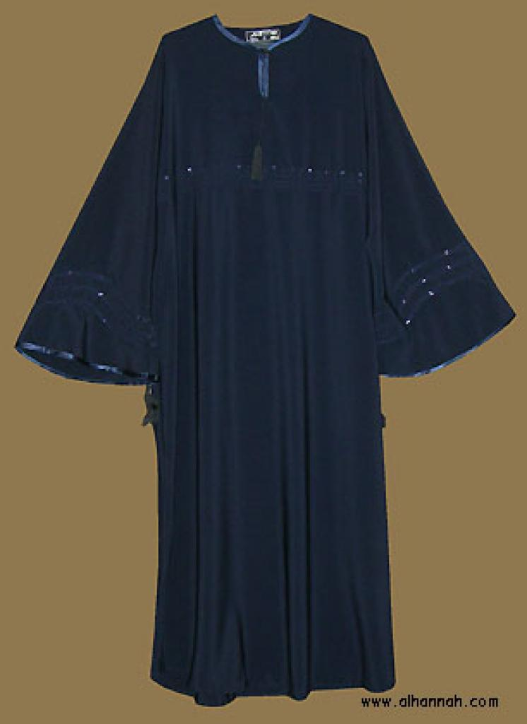 Embroidered Moroccan Abaya with Sequins ab279
