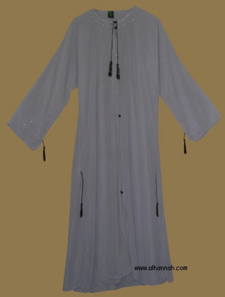 Traditional Saudi pull-over abaya with Crystal accents  ab281