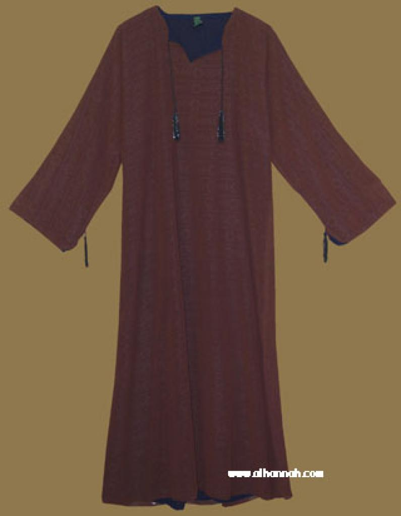 Traditional Arabian Pull Over Abaya and Matching Shayla (oblong scarf) ab284
