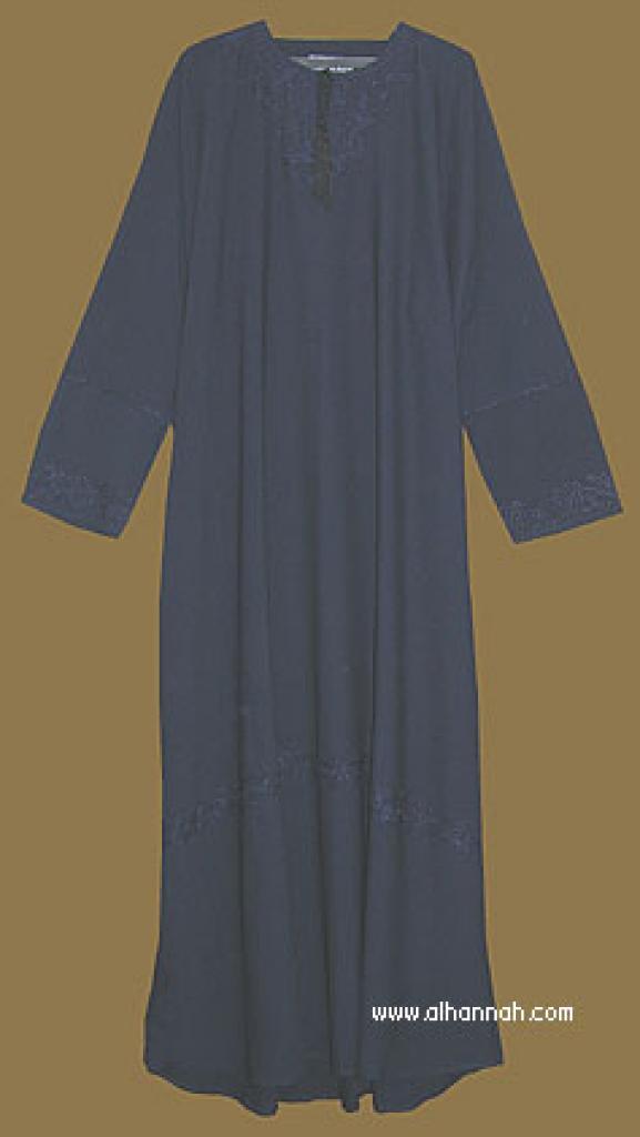 Embroidered Traditional Saudi Pull-Over Abaya ab285