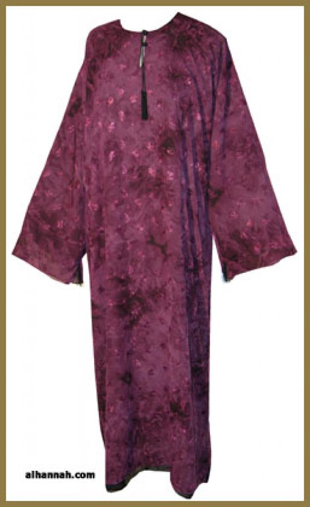 Double Layer Embroidered Saudi Pull Over Abaya ab291