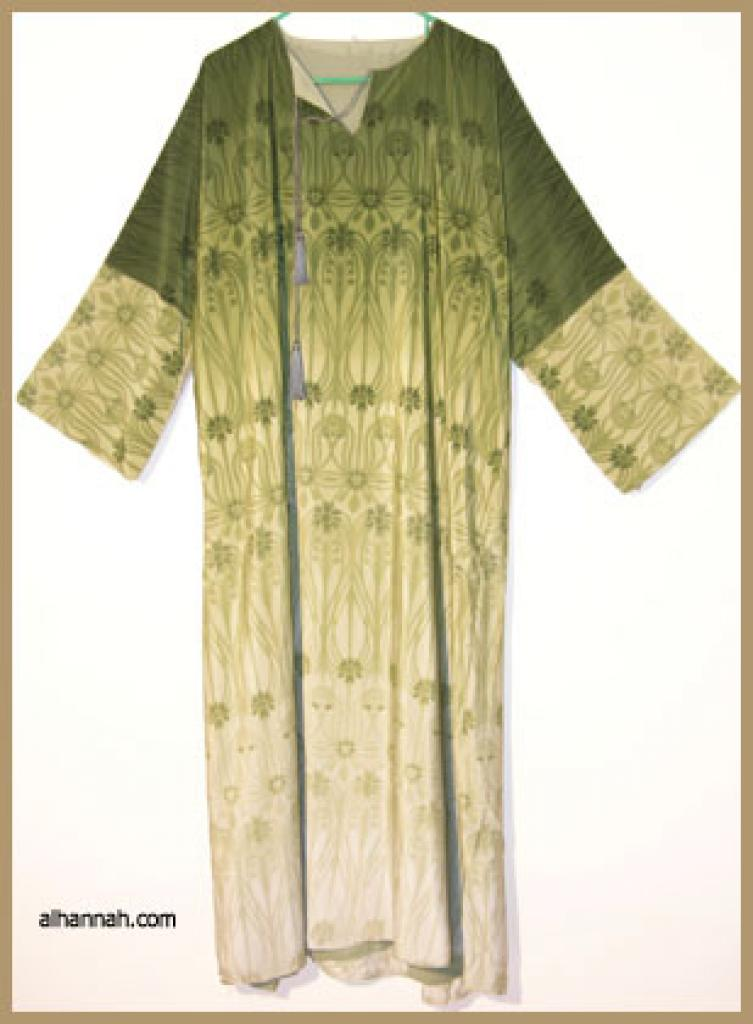 Traditional Double Layered Pull Over Abaya.  ab303