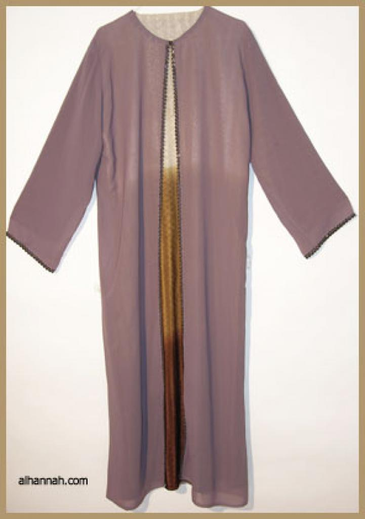 Traditional Double Layered Pull Over Abaya.  ab304