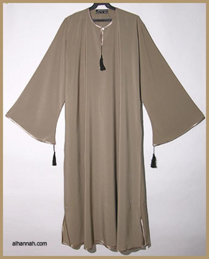Embroidered Moroccan Hooded Abaya  ab307