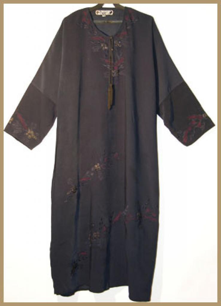 Traditional Embroidered Saudi pull-over Abaya ab309