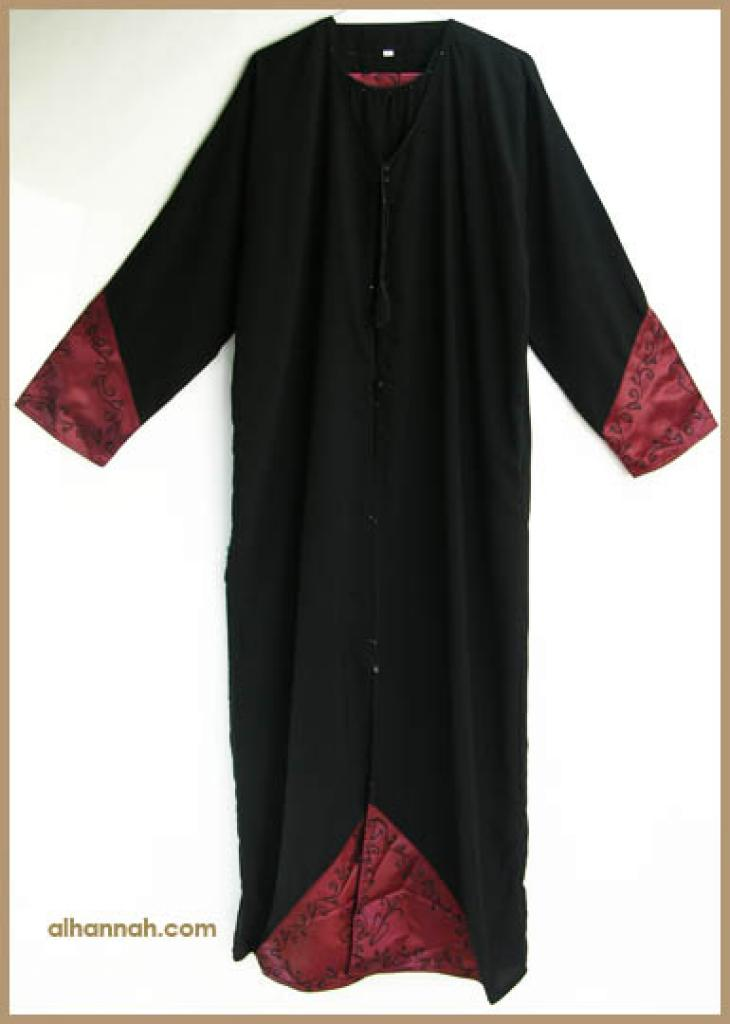Traditional Saudi abaya with Crystal accents ab315