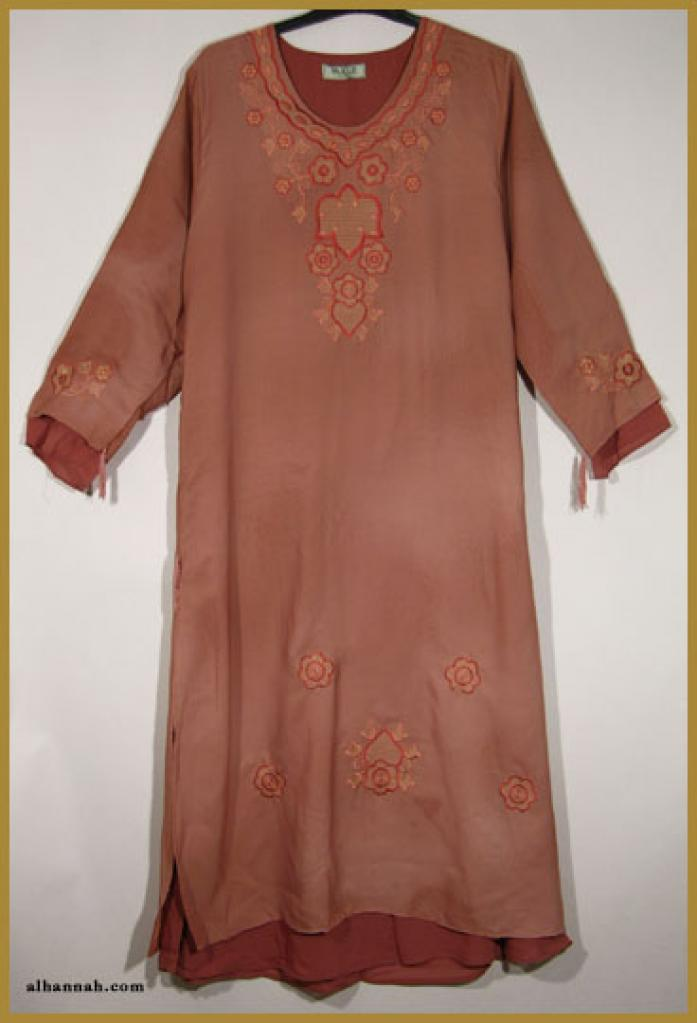 Embroidered Pull Over Abaya ab322
