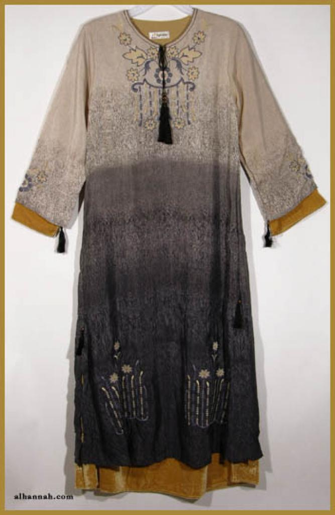 Embroidered Pull Over Abaya ab323