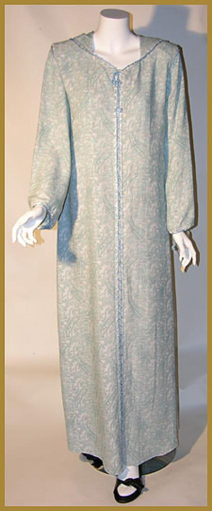 AlKaram Moroccan style hooded abaya ab324