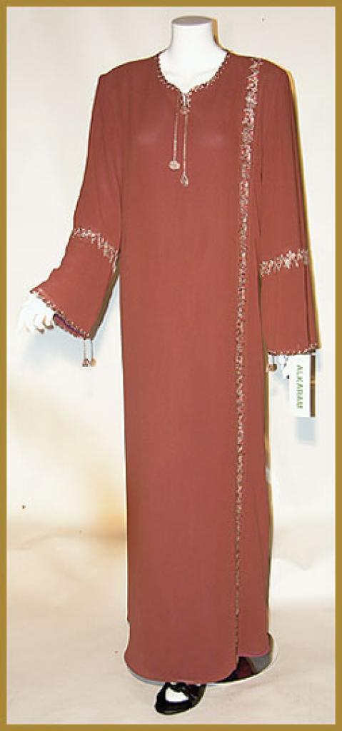 AlKaram Moroccan style hooded abaya ab325