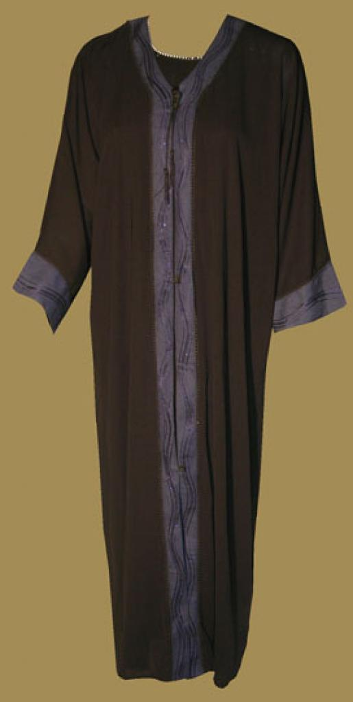 Traditional Saudi pull-over abaya with Crystal accents ab327