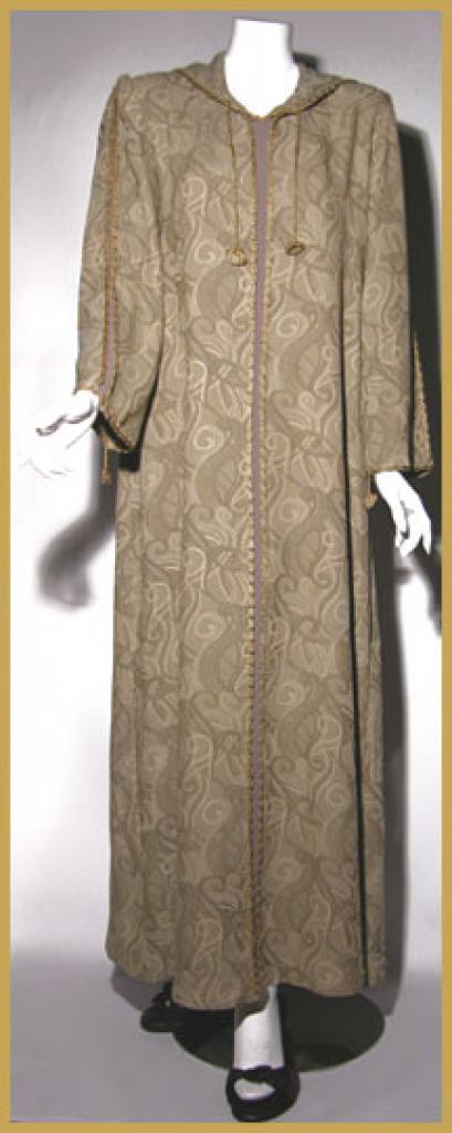 AlKaram Moroccan style hooded abaya ab328