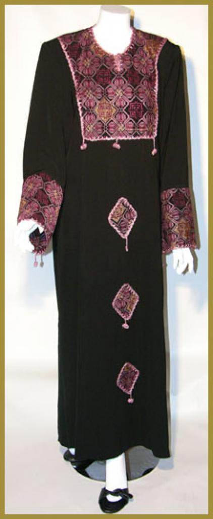 Al Karam Embroidered Pull-Over Abaya  ab332