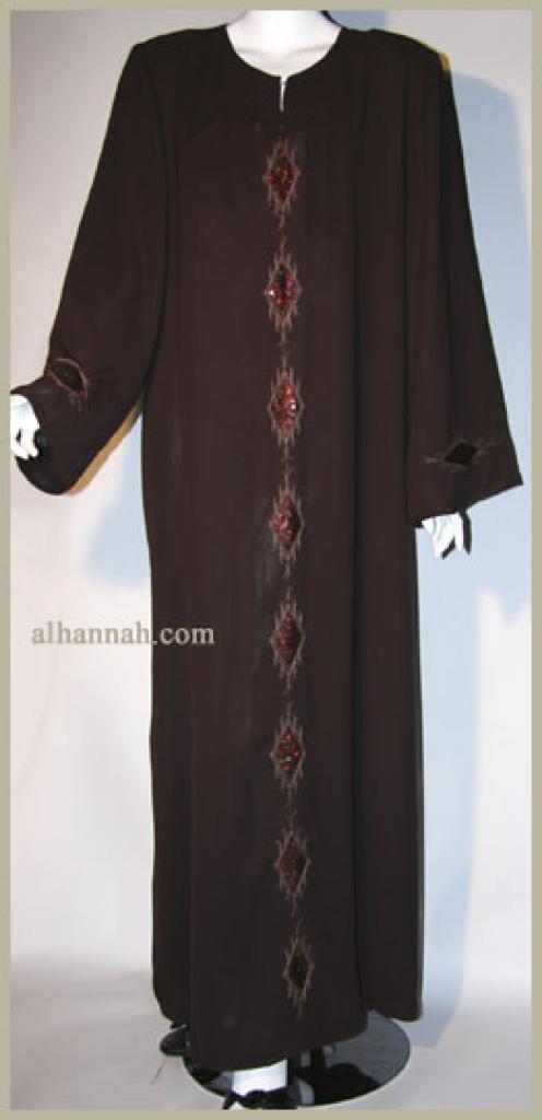 Al Karam Embroidered Pull Over Abaya ab340