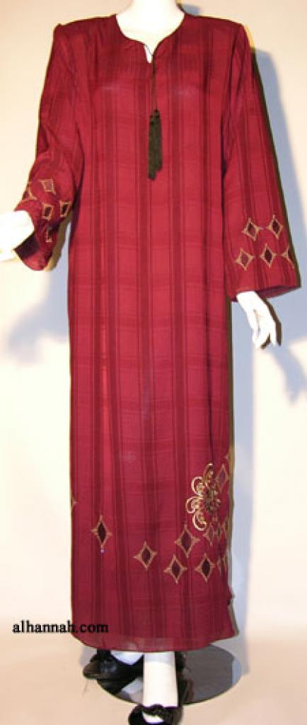 Al Karam Embroidered Pull Over Abaya ab341