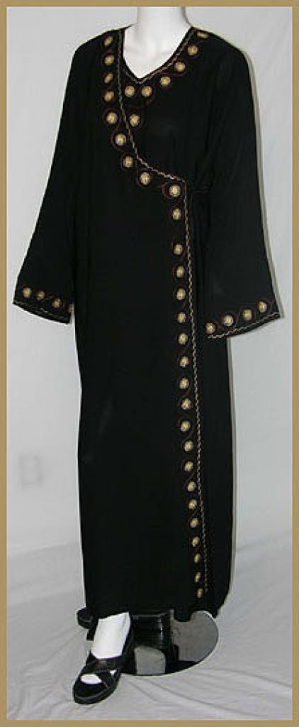 Embroidered Saudi Abaya ab347