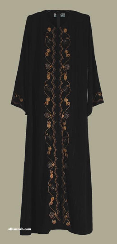 Al Karam Embroidered Pull Over Abaya ab348